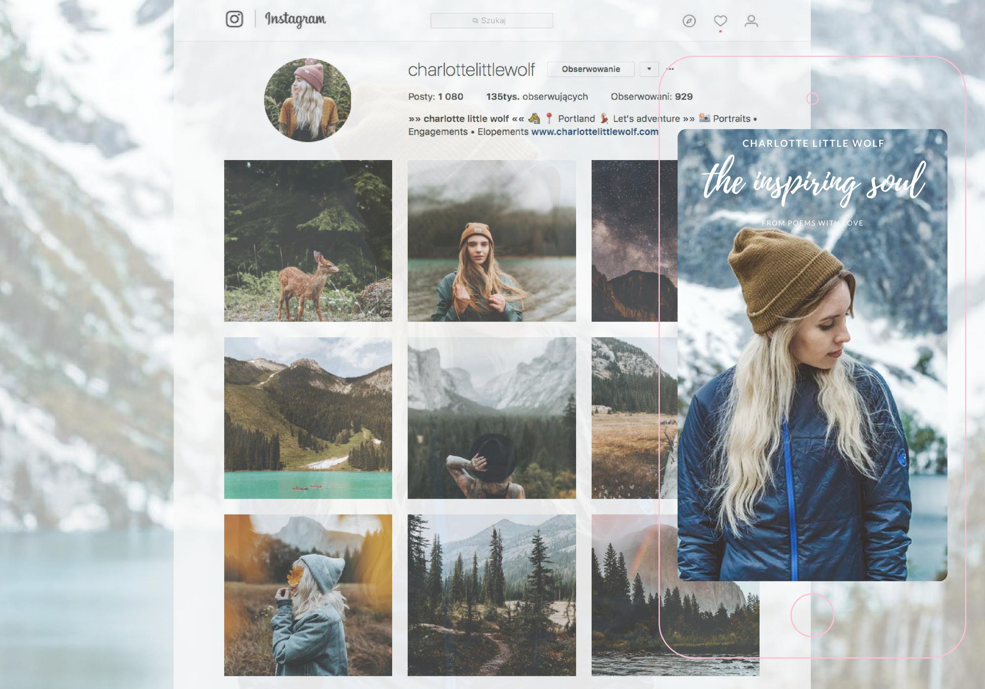 Inspirujące instagramowe dusze, odc. 1: Charlotte Little Wolf